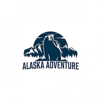 Design de logotipo de aventura do alasca