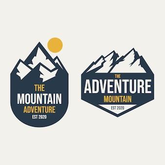 Design de logotipo de aventura na montanha