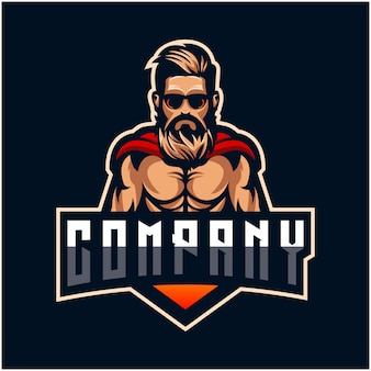 Design de logotipo de barba