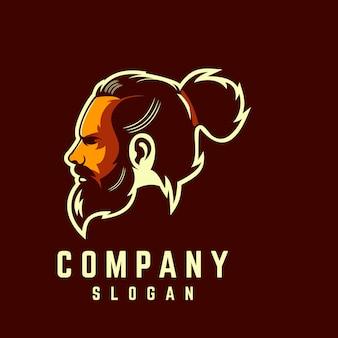 Design de logotipo de barba