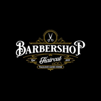 Design de logotipo de barbearia.