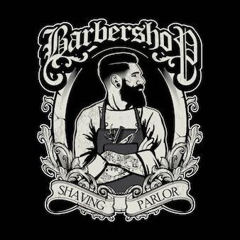 Design de logotipo de barbeiro