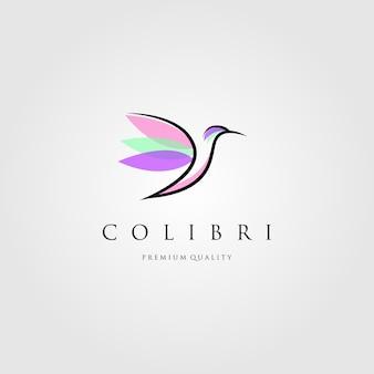 Design de logotipo de beija-flor