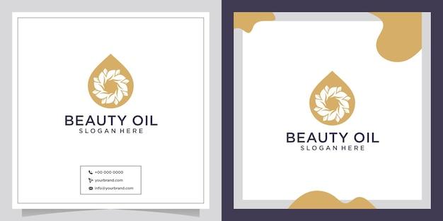 Design de logotipo de beleza e cuidados com a pele