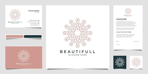 Design de logotipo de beleza, pode usar para salão de beleza, spa, yoga e moda