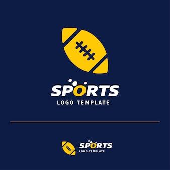 Design de logotipo de bola americana rugby