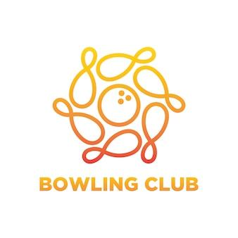 Design de logotipo de boliche