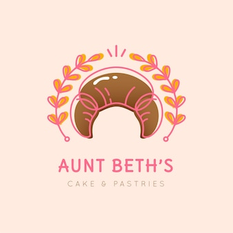 Design de logotipo de bolo de padaria