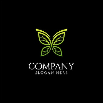 Design de logotipo de borboleta