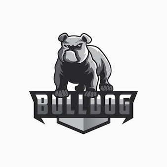 Design de logotipo de buldogue