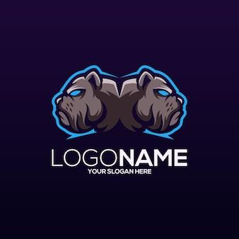 Design de logotipo de bulldog