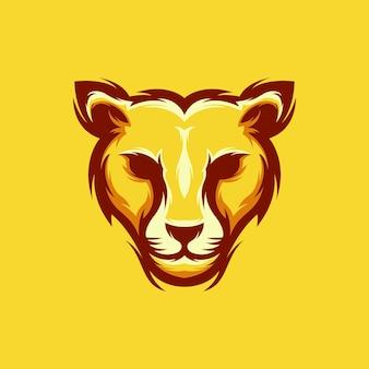Design de logotipo de cabeça de chita