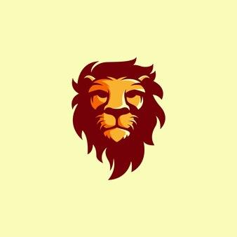 Design de logotipo de cabeça de leão