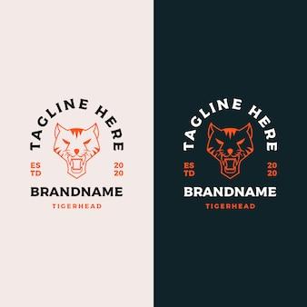 Design de logotipo de cabeça de tigre