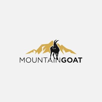 Design de logotipo de cabra selvagem