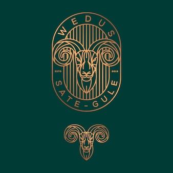 Design de logotipo de cabra.
