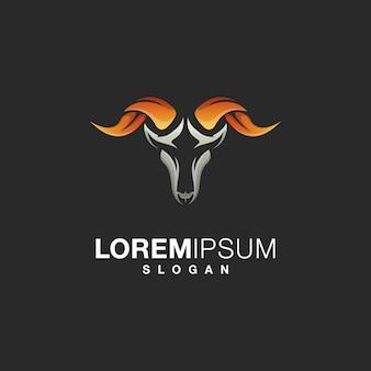 Design de logotipo de cabra