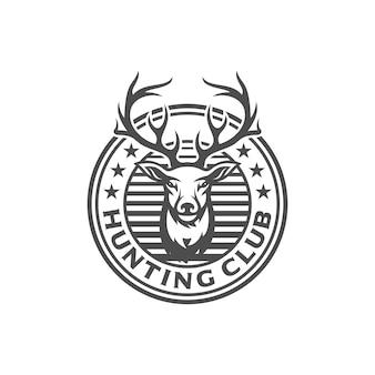 Design de logotipo de caçador de veados vintage