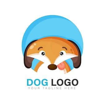 Design de logotipo de cachorro fofo