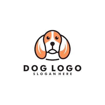 Design de logotipo de cachorro, logotipo de cabeça de animal