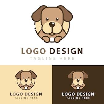 Design de logotipo de cachorro