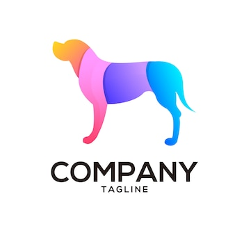 Design de logotipo de cachorro