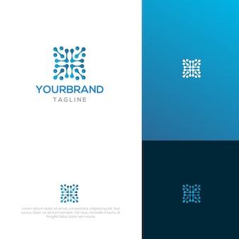 Design de logotipo de cadeia de bloco