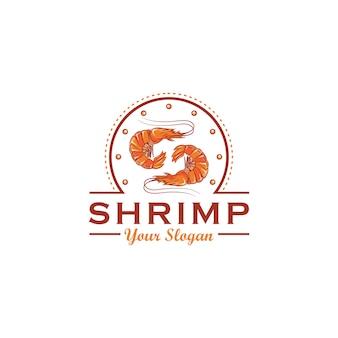 Design de logotipo de camarão