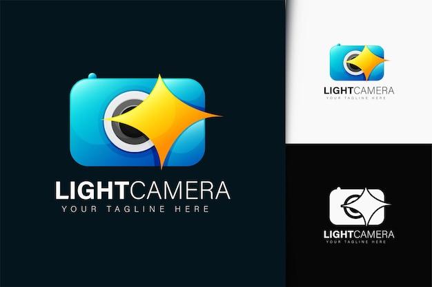 Design de logotipo de câmera leve com gradiente