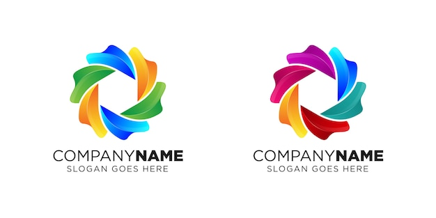 Design de logotipo de câmera líquida