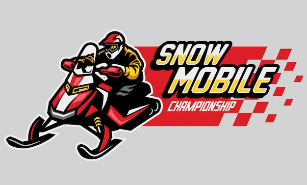Design de logotipo de campeonato de snowmobile
