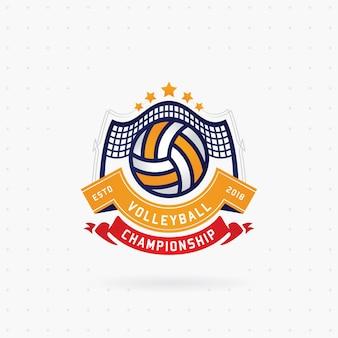 Design de logotipo de campeonato de voleibol