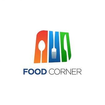 Design de logotipo de canto de comida