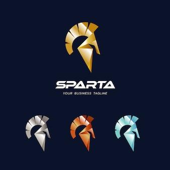 Design de logotipo de capacete sparta