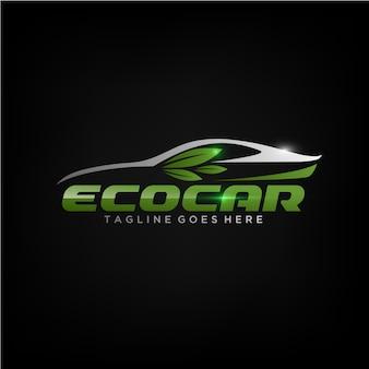 Design de logotipo de carro ecológico