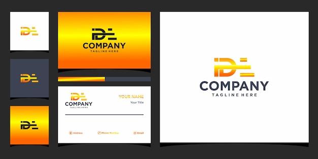 Design de logotipo de carta ide e cartão de visita premium vector