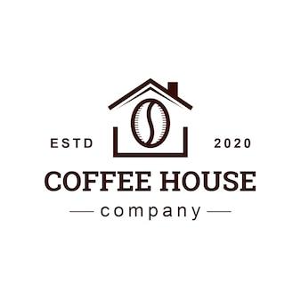Design de logotipo de casa de café