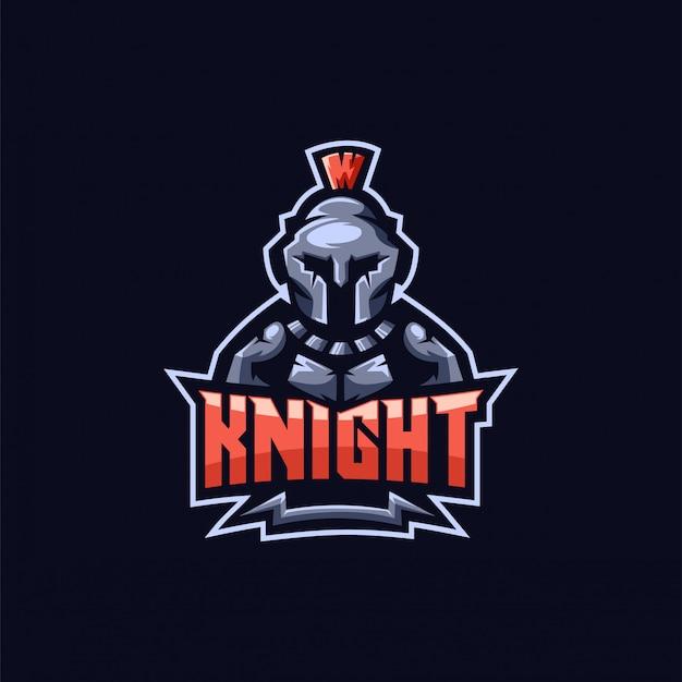 Design de logotipo de cavaleiro e-sport