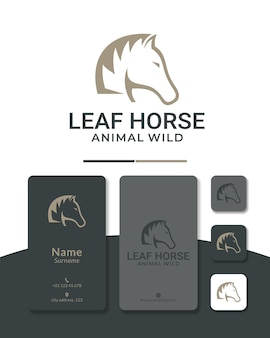 Design de logotipo de cavalo de cabelo de pinho para logotipo agrícola