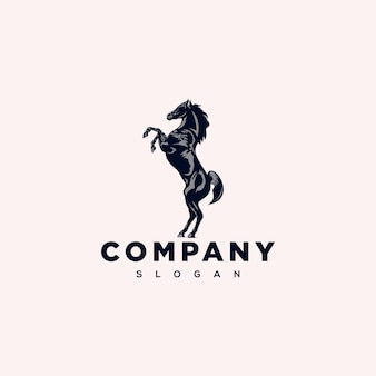 Design de logotipo de cavalo em pé