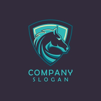 Design de logotipo de cavalo