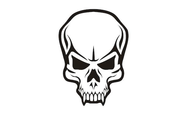 Design De Logotipo De Caveira Tribal Vetor Premium