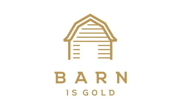 Design de logotipo de celeiro minimalista