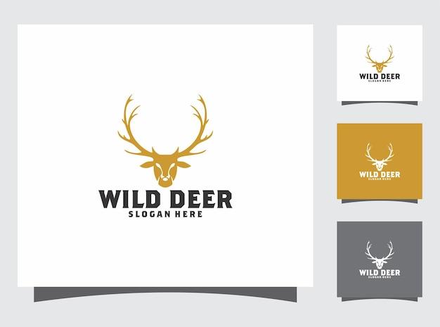 Design de logotipo de cervo
