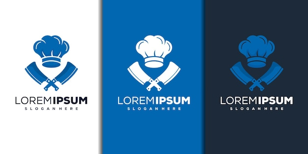 Design de logotipo de chef moderno
