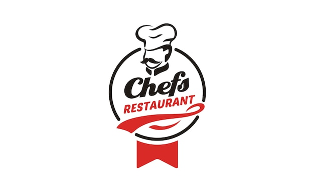 Design de logotipo de chef / restaurante