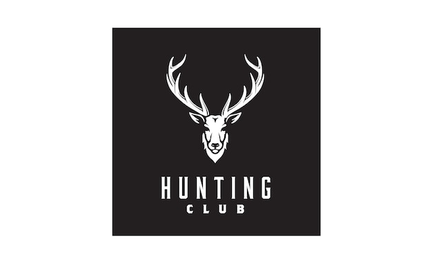 Design de logotipo de chifre / caça