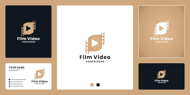 Design de logotipo de clipe de vídeo para filme, editor ou estúdio