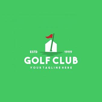 Design de logotipo de clube de golfe profissional