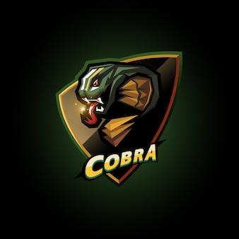 Design de logotipo de cobra esports